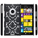 GreatShield TACT Design Pattern Rubber Coating Slim Fit Hard Case Cover for Nokia Lumia 1520 (Black)