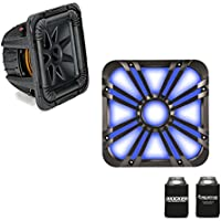 Kicker 44L7S104 L7S 10 Dual 4-Ohm Subwoofer & LED Charcoal Grill