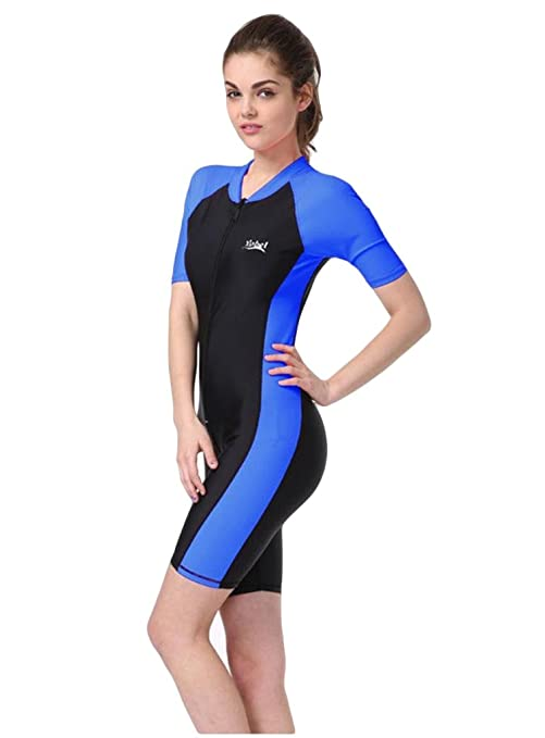 cbdee5cb28e8b Fortuning s JDS®®® New Sun-protection UPF50+ One Piece Short-sleeve  Snorkeling Surfing Suit Swimsuit  Amazon.co.uk  Sports   Outdoors