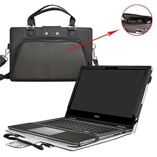 Inspiron 15 5570 5575 Case,2 in 1 Accurately Designed Protective PU Leather Cover + Portable Carrying Bag For 15.6