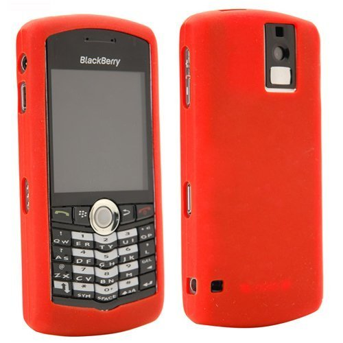 Blackberry Pearl Rubber - BlackBerry Red Rubber Skin Case For Pearl 8100