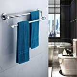 ENJYHZQY Barthroom Towel Bar Towel Holder Stainless Steel,Double Bar