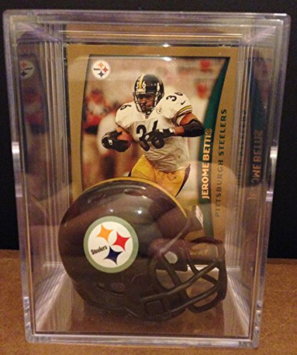 Pittsburgh Steelers NFL Helmet Shadowbox w/ Jerome Bettis ()
