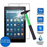 BMOUO All-New Fire HD 8 Screen Protector 2017 Release, Bubble Free/ 9H/ Scratch Proof Glass Screen Protector for Fire HD 8 2017 Release