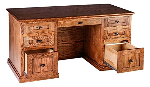 Forest Designs FD-1048- MC-72w-GO Mission Executive Double Pedestal Desk, 72