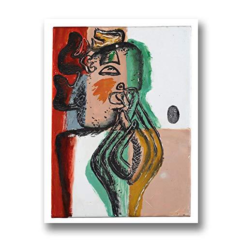 Le Corbusier Obra de Arte Lienzo Impresion Vintage Cubismo Arte Poster Abstracto Pared Arte Le Corbusier Cubista Pintura Hogar Pared Decoracion Cuadro 30x40cm No Marco AF