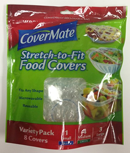 (Covermate Stretch-to-fit Food Covers Convenient Reclosable Bags)