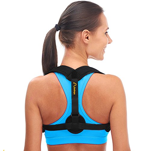 Andago Back Posture Corrector for Women & Men – Effective and Comfortable Posture Brace for Slouching & Hunching – Discreet Design – Clavicle Support