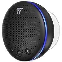 TaoTronics Altavoz Bluetooth Ducha Impermeable Inalámbrico con LED