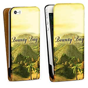 Diseño para Apple iPhone 5 S DesignTasche Downflip black - Bounty Bay Motiv 1