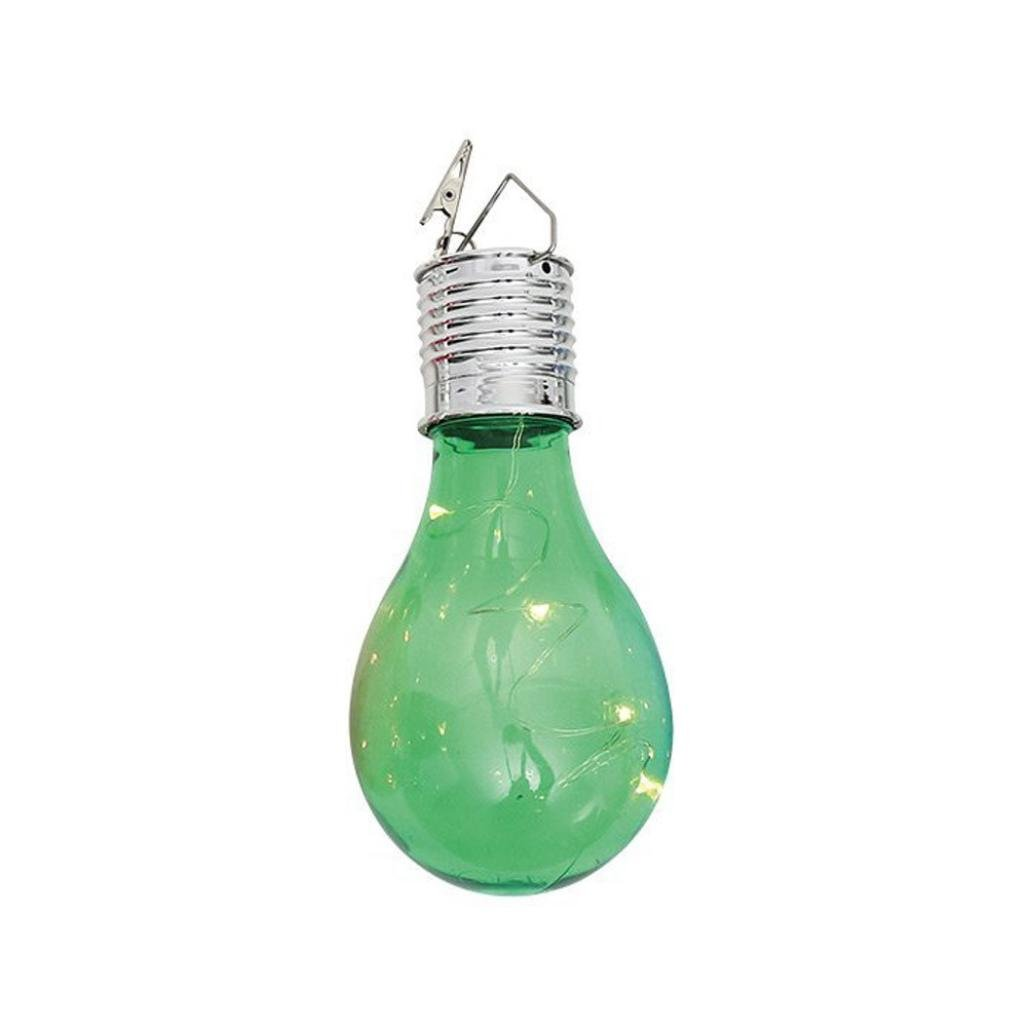 YJM Energy Saving Waterproof Solar Rotatable Outdoor Garden Camping Hanging LED Light Lamp Bulb Green
