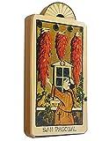 Modern Artisans San Pasqual Patron Saint Kitchens Handmade Retablo Plaque, 3.5 x 7.25 Inches