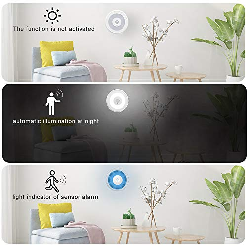 PIR Motion Sensor Alarm, YIROKA Wireless Home Security Driveway Alarm, Motion Detector Alert Kit, Working Range 150M/500FT, Indoor Receiver with Night Light 58 Chimes 4 Volume Levels