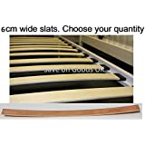 2,4 etc 6cm wide replacement spare slatts.Wood metal bed frame slats,slates, curved,bent wooden sprung beech (6) by World Goods