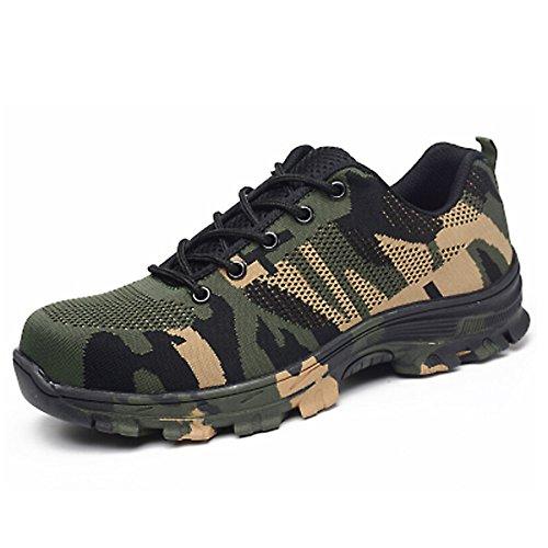 CHNHIRA Chaussures de Sécurité Homme Embout Acier Protection Confortable Léger Respirante Unisexes Chaussures de Travail 1