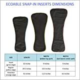 EcoAble 3-Pack Snap-in Charcoal Bamboo Inserts for