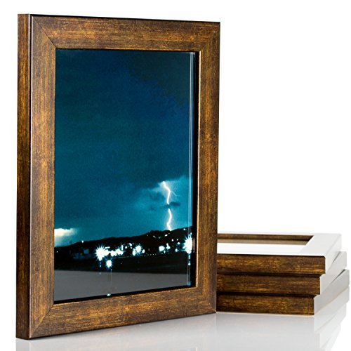 Copper Photo Frame (Craig Frames Bauhaus, Modern Aged Copper Picture Frame, 5 by 7-Inch, Set of 4)