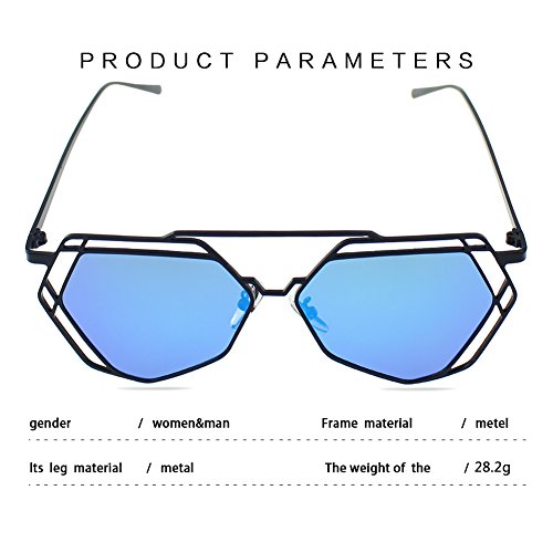 Mirror Style Hollow Polarized Fashion Sports Anti Outdoor Blue Party Frame Sunglasses Decorations black Women Indoor Lens Glasses Man Lens Protection Fishing Metal Travelling Climbing UV Rock Driving For For Frame Eyewear wXSPT