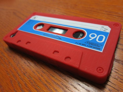 Red Silicone Cassette Tape Case/skin/cover for Apple Iphone 4/4s By Workingport