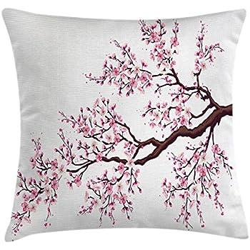 New Amazon.com: Ambesonne Nature Throw Pillow Cushion Cover, Sakura  OB45