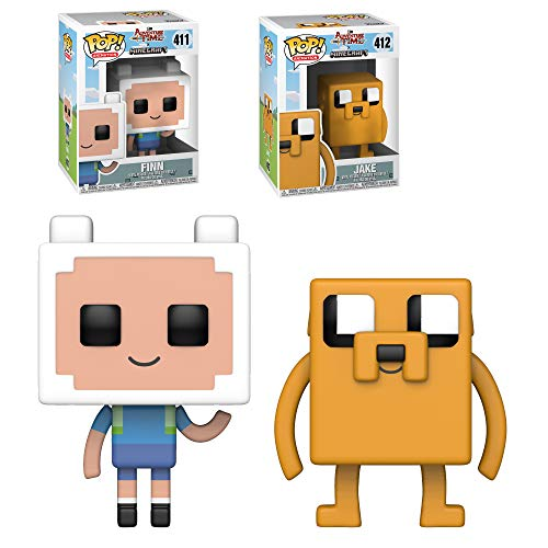 WiiMi Funko Pop! TV: Adventure Time/Minecraft S1 - Jake and Finn Two Pop! Bundle (Two Figures Included)