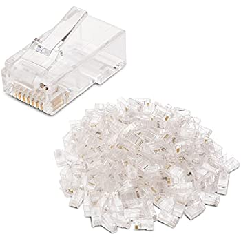 Cable Matters (200-Pack) Cat 6 RJ45 Modular Plugs with Load Bars for Solid UTP Cable