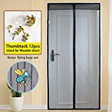 Longess Magnetic Screen Door,Keep Flying Bugs Mosquito Out Magnets Mesh Screen Door with Full Frame Hook&Loop(35''83'')