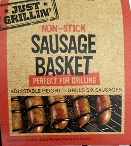 Non-Stick Sausage Basket Perfect For Grilling, Adjustable Height