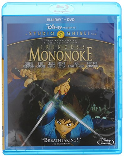 Princess Mononoke (Blu-ray + DVD) (Disney Ray Princess Blue Movies)
