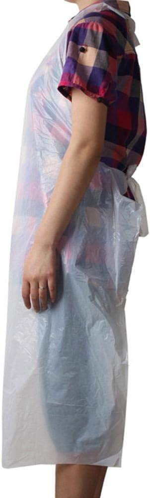 DIF 100pcs Set Tablier de Nettoyage jetable Tabliers Transparents///pour Les Femmes Utilisation de la Cuisine Hommes Tablier de Cuisine Cuisine Facile 100pcs