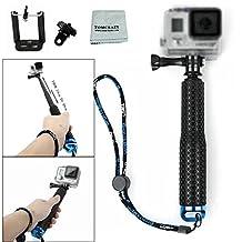 Tomcrazy Waterproof Hand Grip Adjustable Handle Mount Selfie Stick Water Sport Mount for Gopro Hero 5 4 3 2 AKASO SJCAM Xiaomi YI Sony Nikon Coolpix Telescopic Monopod for iPhone X 8 PLUS 8+ 7+ 7 6 6S 5 5C 5S 4 4S