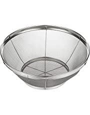 Stainless Steel Colander / Mesh Colander Strainer Basket - For Kitchen Straining, Draining, Salad, Spaghetti and Noodles - 10.25 x 4 Inches