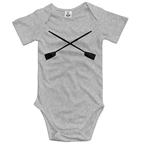 woonmo Unisex Infant Bodysuits Crossed Oars Cleaver, Black Boys Babysuit Short Sleeve Jumpsuit Sunsuit Outfit Newborn Ash