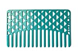 Go-Comb - Wallet Sized Hair & Travel Comb - Wide Tooth - Turquoise Facets