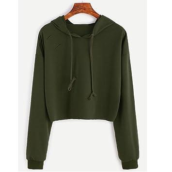 minertech – agujero de manga larga sudadera con capucha suéter con capucha sudadera Tops blusa,