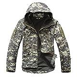 Search : YIMANIE Men's Outdoor Rain Waterproof Soft Shell Hooded Outerwear Camouflage Tactical Jacket Windbreaker Coats