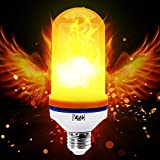 Yeahbeer LED Flame Effect Light Bulb E26 Flickering Flame Light Bulbs 105pcs 2835 LED Light Bulb Atmosphere Lighting Art Deco Vintage Simulation Flames Bar  Holiday Decorations