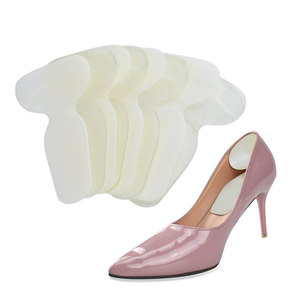 TIMESETL 4Pairs Heel Grips, Gel High Heel Liners Snug, Self Adhesive Back Heel Cushion for Men Women Shoes Boots - Beige