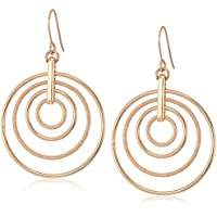 Kenneth Cole New York Rose Gold-Tone Multi-Hoop Earring - Women's