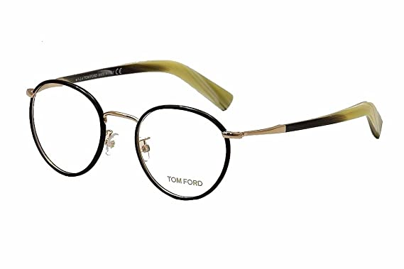 8b7c46cc60 Tom Ford Eyeglasses TF 5332 Eyeglasses 005 Black with gold and beige horn  49mm