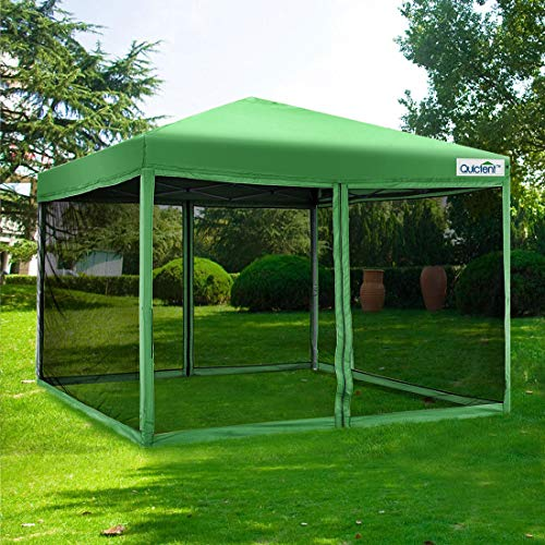 Quictent 8x8 Ft Easy Pop up Canopy with Netting Screen House Tent Mesh Side Walls ()