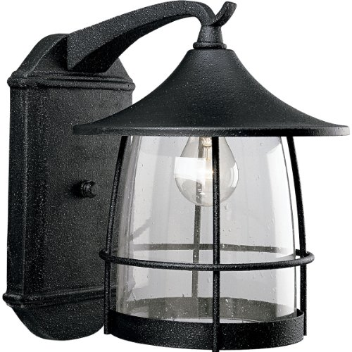 Progress Lighting P5764-71 1-Light Wall Lantern with Wire Frames and Clear Seeded Glass, Gilded (1 Light Wire Frame)