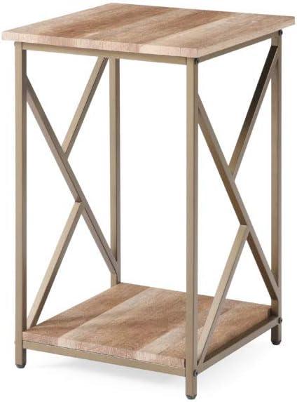 Hodedah 24.4 inch H Gold Side Table