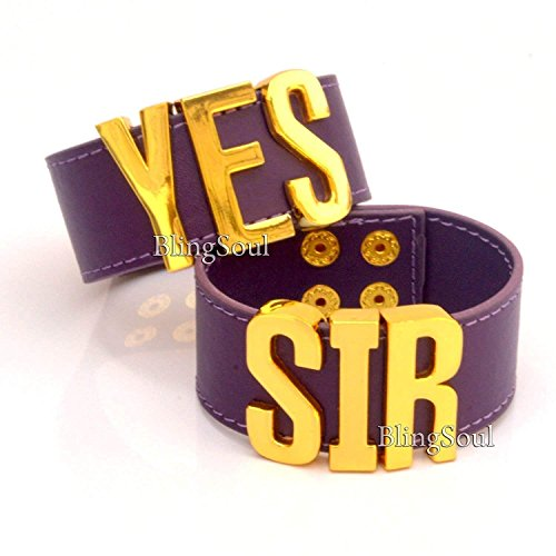 YES SIR Cuff Bracelets Jewelry Merchandise - Christmas Costume Prop Ideas for - Spike Collars Harley