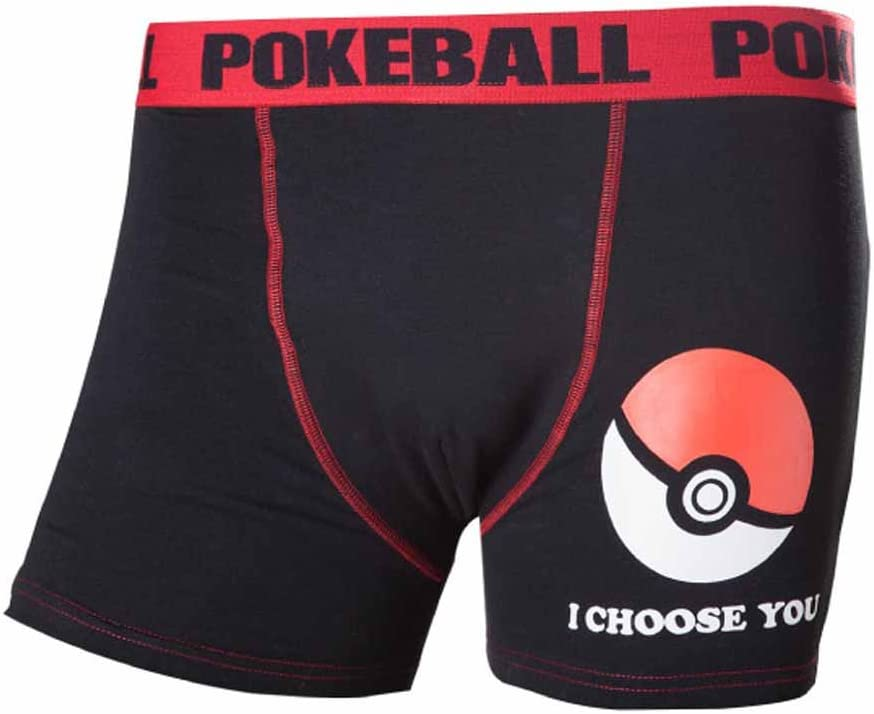 BIO - Boxers Negro POKEMON - Pokeball XL