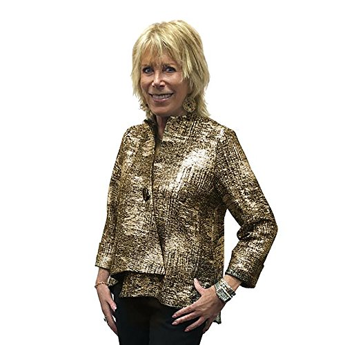 IC Collection Designer Jacket in Gold and Black - 9951J-GLD (Large)
