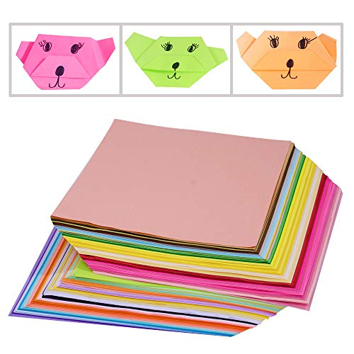 50 Vivid Colors 200 Sheets Origami Paper 6-Inch by 6-Inch for Arts and Crafts Projects