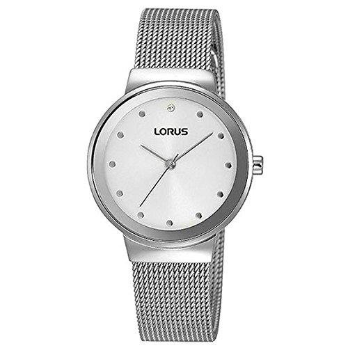 Lorus Reloj Análogo clásico para Mujer de Digital con Correa en Acero Inoxidable RG279JX9: Amazon.es: Relojes