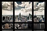 (36x24) New York City Window Poster