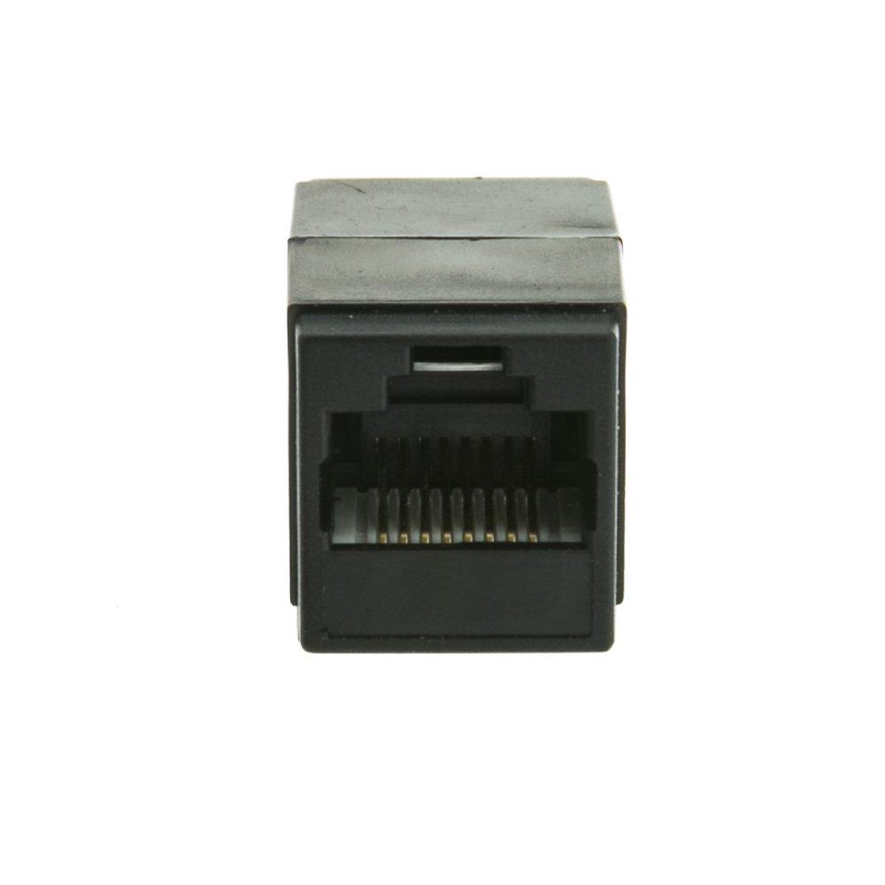 Black Female//Female Inline Unshielded Coupler PcConnectTM CAT5E RJ45